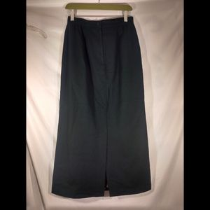 Vintage green wool maxi skirt